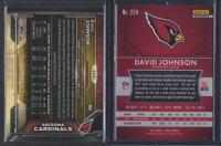 Lot of (2) David Johnson Football Cards with 2015 Panini Prizm Red White and Blue #224 & 2015 Topps Chrome #177 RC at PristineAuction.com