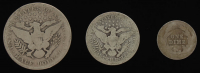 Lot of (3) Barber Silver Coins with 1906 Half-Dollar, 1914 Quarter Dollar, & 1903 Dime at PristineAuction.com