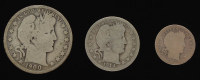 Lot of (3) Barber Silver Coins with 1900-O Half-Dollar, 1914 Quarter Dollar, & 1905 Dime at PristineAuction.com