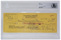 Walt Disney Signed 1961 Personal Check (BAS Encapsulated) at PristineAuction.com
