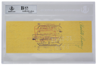 Walt Disney Signed 1961 Personal Check (BAS Encapsulated) at PristineAuction.com