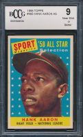 Hank Aaron 1958 Topps #488 All-Star (BCCG 9) at PristineAuction.com