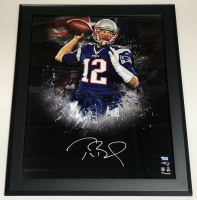 Tom Brady Signed Patriots 20x24 Custom Framed Photo (Fanatics Hologram) at PristineAuction.com