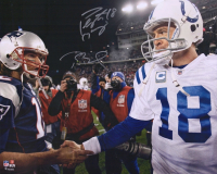 Tom Brady & Peyton Manning Signed 16x20 Photo (Fanatics Hologram) at PristineAuction.com