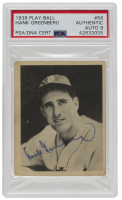 Hank Greenberg Signed 1939 Play Ball #56 (PSA Encapsulated) at PristineAuction.com