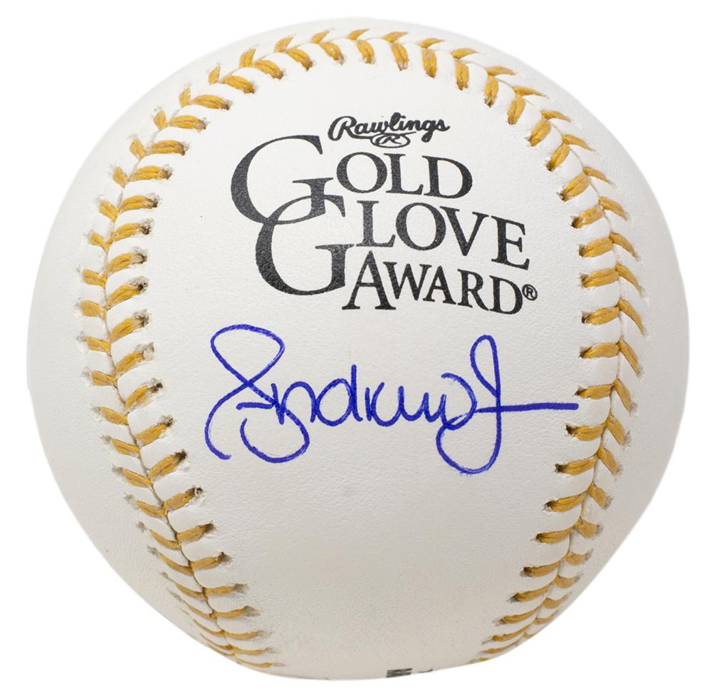 Andruw Jones Signed Gold Glove Award Baseball (PSA COA) at PristineAuction.com