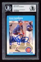 Ryne Sandberg Signed 1987 Fleer #572 (BGS Encapsulated) at PristineAuction.com