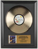 "Prince 16x20 Custom Framed Gold Plated ""Purple Rain"" Record Album Award Display at PristineAuction.com"