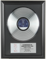"Pink Floyd 16x20 Custom Framed Silver Plated ""The Wall"" Record Album Award Display at PristineAuction.com"