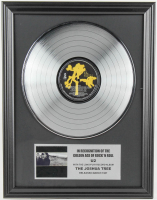 "U2 16x20 Custom Framed Silver Plated ""The Joshua Tree"" Record Album Award Display at PristineAuction.com"