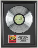 "The Doors 16x20 Custom Framed Silver Plated ""LA Woman"" Record Album Award Display at PristineAuction.com"