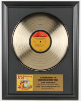 "Jimi Hendrix 16x20 Custom Framed Gold Plated ""Are You Experienced?"" Record Album Award Display at PristineAuction.com"