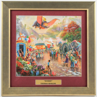 "Thomas Kinkade Walt Disney's ""Dumbo"" 16.5x16.5 Custom Framed Print Display at PristineAuction.com"