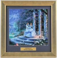 "Thomas Kinkade Walt Disney's ""Cinderella"" 16.5x16.5 Custom Framed Print Display at PristineAuction.com"