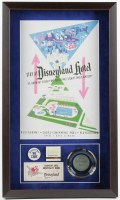 Disneyland Hotel 16x27x1.5 Custom Framed Poster Print Display with Vintage 1960's Pin, Disneyland Matchbook & Ash Tray at PristineAuction.com