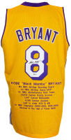 Kobe Bryant Signed Career Highlight Stat Jersey (Beckett LOA) at PristineAuction.com