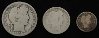Lot of (3) Barber Silver Coins with 1909-O Half-Dollar, 1897 Quarter Dollar, & 1911-S Dime at PristineAuction.com