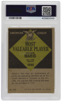 Roger Maris Signed 1961 Topps #478 MVP (PSA Encapsulated) at PristineAuction.com