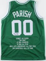 Robert Parish Signed Career Highlight Stat Jersey (JSA COA) at PristineAuction.com