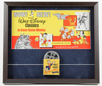 "Walt Disney's ""Mickey Mouse"" 20x22.5 Custom Framed Original 1969 Store Poster Display with Vintage 8mm Disney Film Reel at PristineAuction.com"