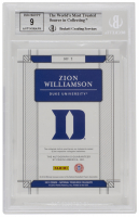 Zion Williamson 2019-20 Panini National Treasures Apprentice Ink Autographs #1 (BGS 9) at PristineAuction.com