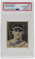 Stan Musial Signed 1948 Bowman #36 RC (PSA Encapsulated) at PristineAuction.com
