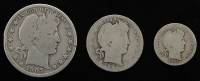 Lot of (3) Barber Silver Coins with 1907-D Half-Dollar, 1893 Quarter Dollar, & 1905 Dime at PristineAuction.com