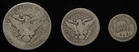Lot of (3) Barber Silver Coins with 1908-O Half-Dollar, 1903 Quarter Dollar, & 1912-D Dime at PristineAuction.com