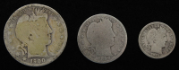 Lot of (3) Barber Silver Coins with 1900 Half-Dollar, 1899-O Quarter Dollar, & 1914 Dime at PristineAuction.com