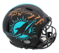 "Ricky Williams Signed Dolphins Full-Size Authentic On-Field Eclipse Alternate Speed Helmet Inscribed ""Smoke Weed Everyday!"" (Radtke COA) at PristineAuction.com"