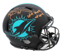 """Ricky Williams Signed Dolphins Full-Size Authentic On-Field Eclipse Alternate Speed Helmet Inscribed """"Split Blunts, Not Carries"""" (Radtke COA) at PristineAuction.com"""