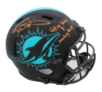 """Ricky Williams Signed Dolphins Full-Size Eclipse Alternate Speed Helmet Inscribed """"Hitting Holes & Smoking Bowls"""" (Radtke COA) at PristineAuction.com"""