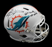 "Ricky Williams Signed Dolphins Full-Size Authentic On-Field Matte White Speed Helmet Inscribed ""Split Blunts, Not Carries"" (Radtke COA) at PristineAuction.com"