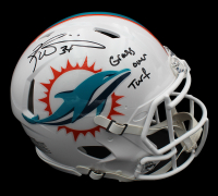 "Ricky Williams Signed Dolphins Full-Size Authentic On-Field Matte White Speed Helmet Inscribed ""Grass over Turf"" (Radtke COA) at PristineAuction.com"