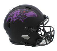 Ray Lewis Signed Ravens Full-Size Authentic On-Field Eclipse Alternate Speed Helmet (Beckett Hologram) at PristineAuction.com