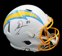 Antonio Gates Signed Chargers Full-Size Authentic On-Field Matte White Speed Helmet (Radtke COA) at PristineAuction.com
