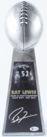 "Ray Lewis Signed 15"" Football Championship Trophy (Beckett COA) at PristineAuction.com"
