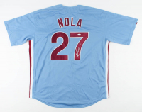 Aaron Nola Signed Phillies Jersey (JSA COA) at PristineAuction.com