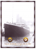 Authentic Coal & Wood Relic Piece From Titanic Wreckage on 6x8 Photo (The Zone COA) at PristineAuction.com