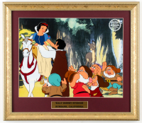 "Walt Disney's 1978 ""Snow White & the Seven Dwarfs"" 14.5x16.5 Custom Framed Two-Piece Animation Serigraph Display at PristineAuction.com"