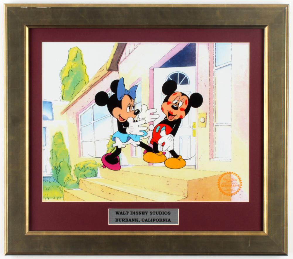 "Walt Disney's ""Mickey & Minnie Mouse"" 15.5x17.5 Custom Framed Animation Serigraph Cel Display at PristineAuction.com"