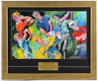 """LeRoy Neiman """"Golf's Greatest"""" 18.75x22.75 Custom Framed Print Display with Arnold Palmer, Jack Nicklaus, Tom Watson & Seve Ballesteros at PristineAuction.com"""