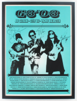 "Joe Satriani, Steve Vai & Yngwie Malmsteen Signed ""G3"" 19x25 Custom Framed Concert Poster Display (JSA ALOA) at PristineAuction.com"