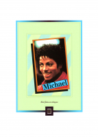 Michael Jackson Worn Clothing Piece on 6x8 Photo (The Zone COA) at PristineAuction.com