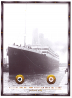 Authentic Coal, Wood From Titanic Wreckage on 8x10 Photo (The Zone COA) at PristineAuction.com