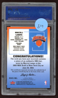 Maciej Lampe 2003-04 Fleer Tradition Rookie Hats Off #RHOMJ Proof (PSA Authentic) at PristineAuction.com