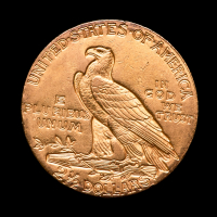 1910 $2.50 Indian Head Quarter Eagle Gold Coin at PristineAuction.com