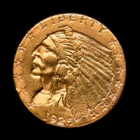 1925 $2.50 Indian Head Quarter Eagle Gold Coin at PristineAuction.com
