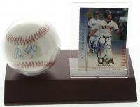 Alex Gordon Signed Official Arizona Fall League Baseball Display with Signed 2004-05 USA Baseball National Team #28 Card (JSA COA) at PristineAuction.com