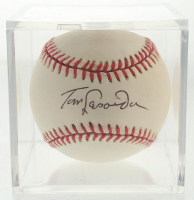 Tom Lasorda Signed ONL Baseball with Display Case (JSA COA) at PristineAuction.com